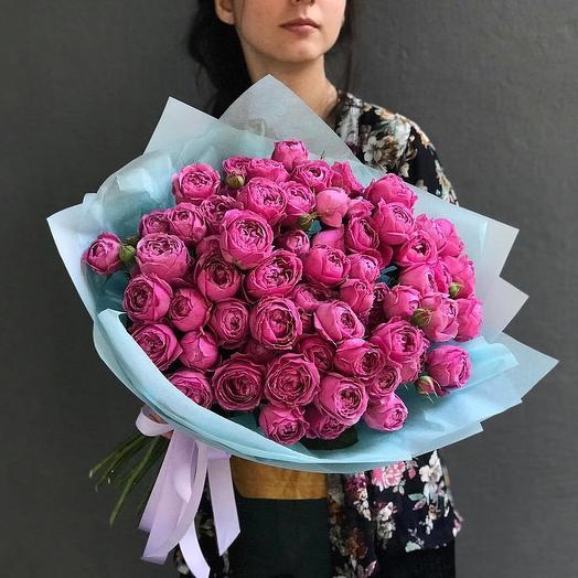 29 пионовидных роз MISTY BUBBLES: букеты цветов на заказ Flowwow