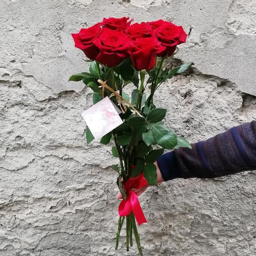 Розы 7 штук