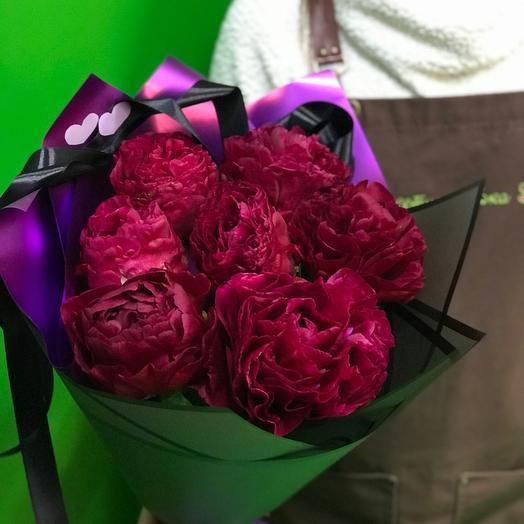 Пурпурные пионы