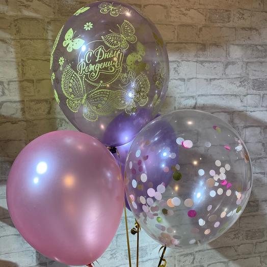 Набор из 4х шаров с гелием и hifloat