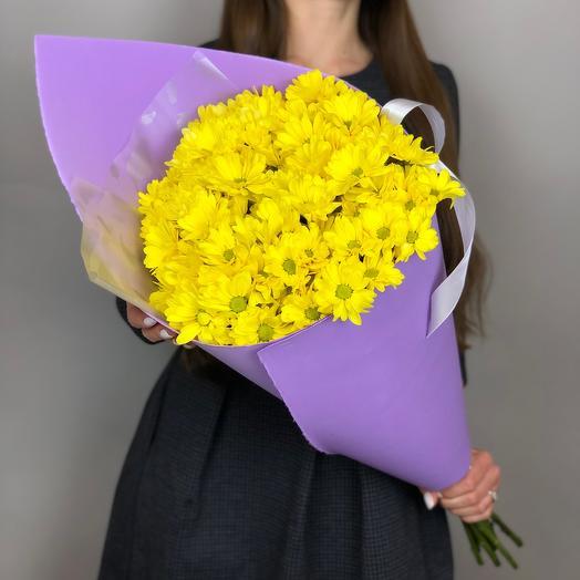 Букет из жёлтой хризантемы