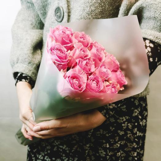 """Букет """"Пино Нуар 15"""" из светло-розовых роз 40 см"""