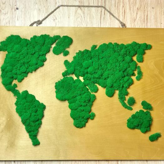 Карта мира на фанере