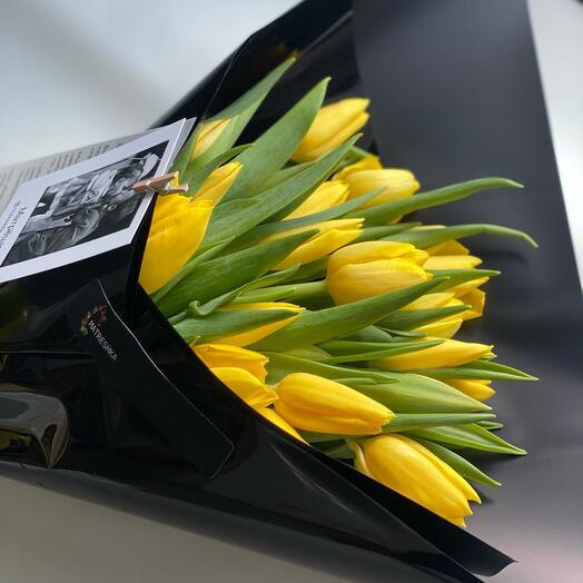 Моно из желтого тюльпана