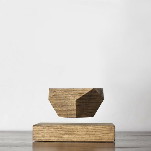 Парящий горшок Leplant Wood тёмный (бонсай)