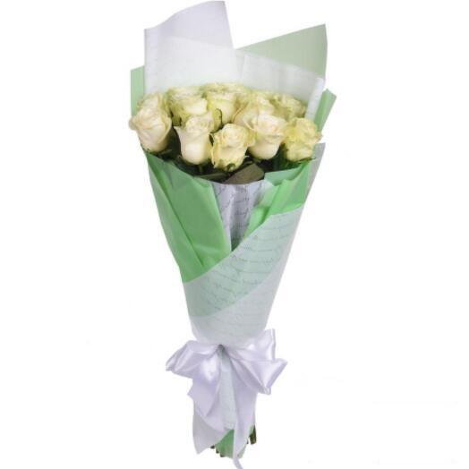 Букет из 11 белых роз