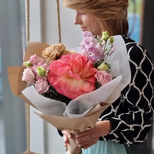 Bouquet with peony