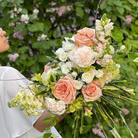 Свадебный букет «Медовый месяц»