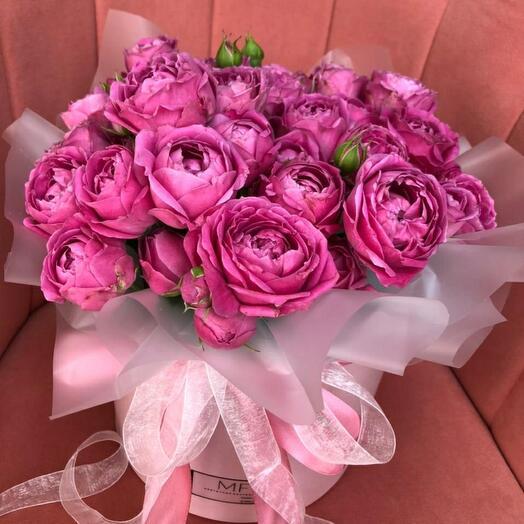 Коробочка из пионовидная розы