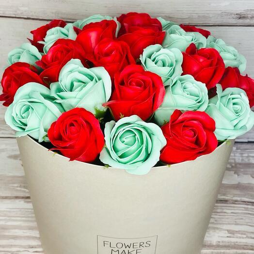 Букет и 27 мыльных роз