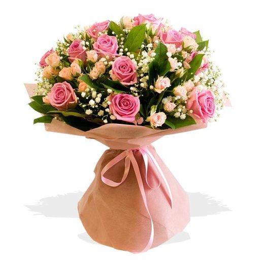 Букет из роз Легкая магия: букеты цветов на заказ Flowwow