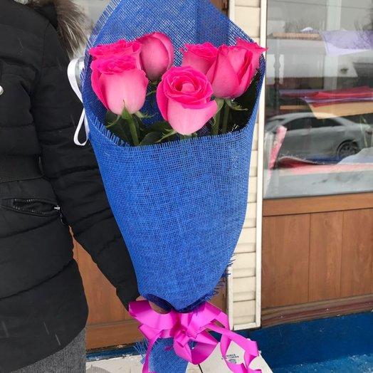 Букет 7 голландских роз: букеты цветов на заказ Flowwow