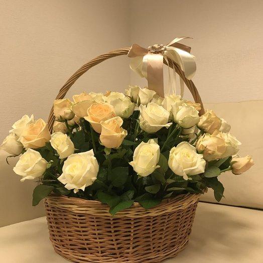 Корзина роз 57: букеты цветов на заказ Flowwow