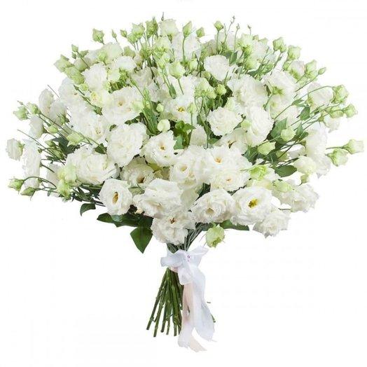 39 белых эустом: букеты цветов на заказ Flowwow