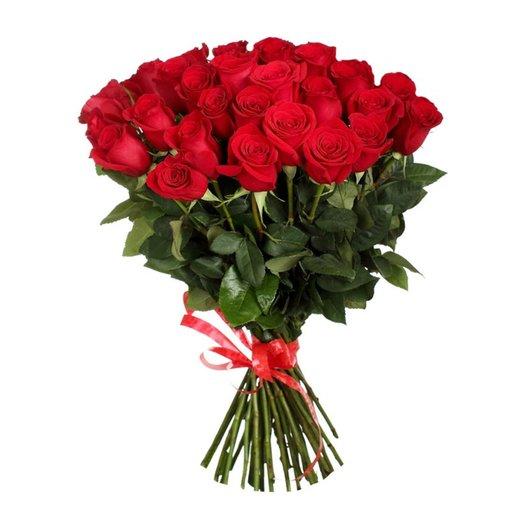25 элитных высоких голландских роз: букеты цветов на заказ Flowwow
