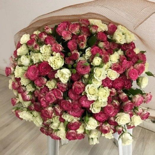 МИКС Кустовые розы 51: букеты цветов на заказ Flowwow