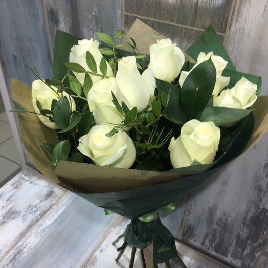 "Букет белых роз ""Леди"""