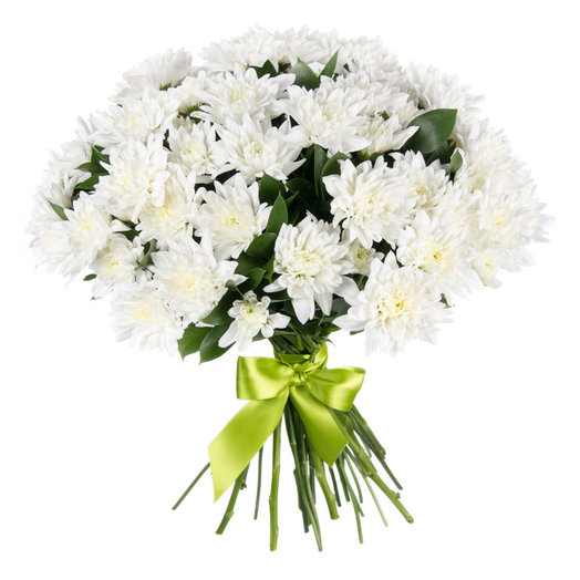 15 веток хризантем под ленту: букеты цветов на заказ Flowwow