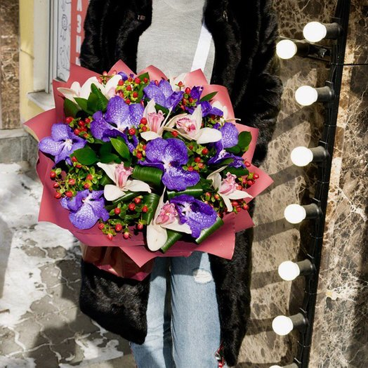 Орхидеи mix: букеты цветов на заказ Flowwow