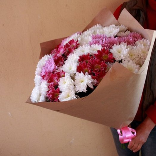 Букет из 15 хризантем: букеты цветов на заказ Flowwow