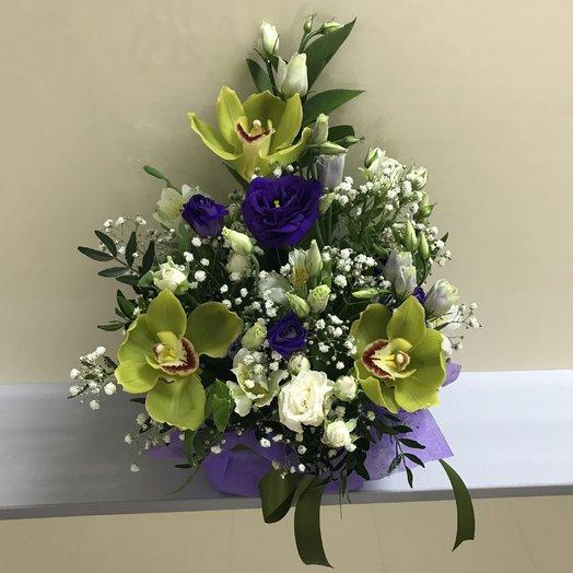 Зеленая орхидея