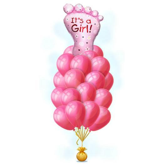 """Розовый фонтан """"Счастливая пяточка"""""""
