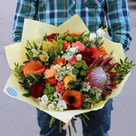 "Букет ""Краски Африки"": букеты цветов на заказ Flowwow"
