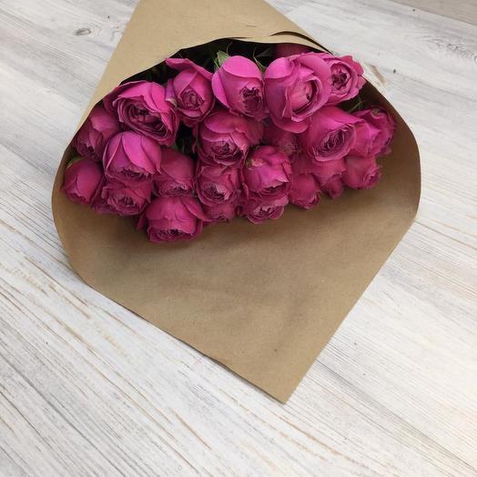 Букет из 9 пионовидных роз: букеты цветов на заказ Flowwow
