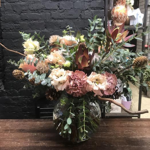 Букет в кофейной гамме: букеты цветов на заказ Flowwow