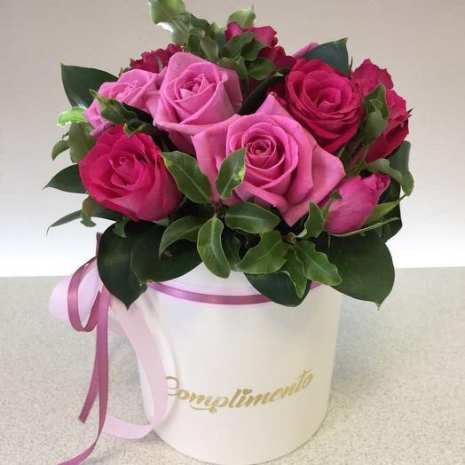 Букет из розовых роз «Очарование»: букеты цветов на заказ Flowwow