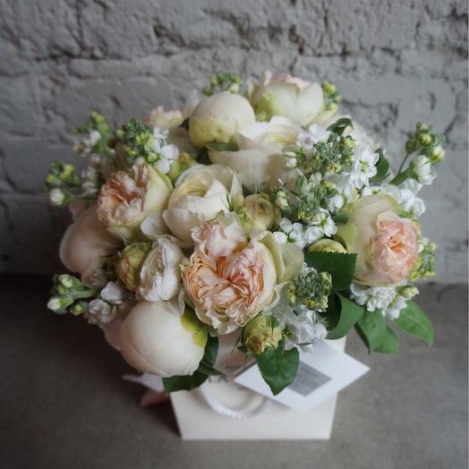 Белоснежные Пионы и Ароматная маттиола: букеты цветов на заказ Flowwow