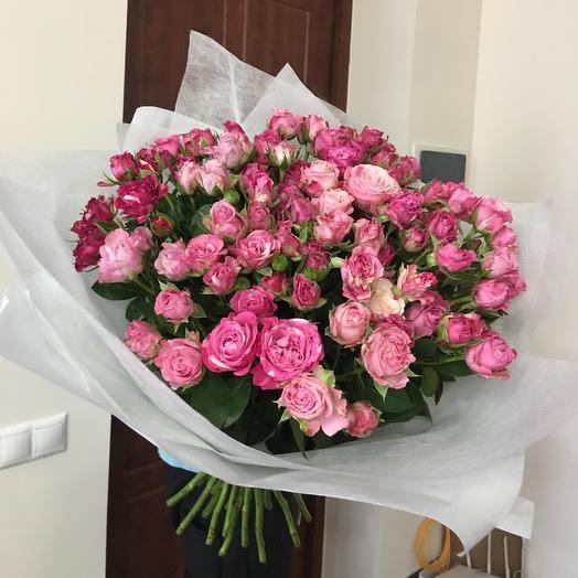 Пионовидная розочка: букеты цветов на заказ Flowwow