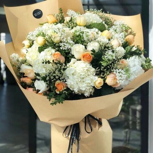 Персиковый пломбир: букеты цветов на заказ Flowwow