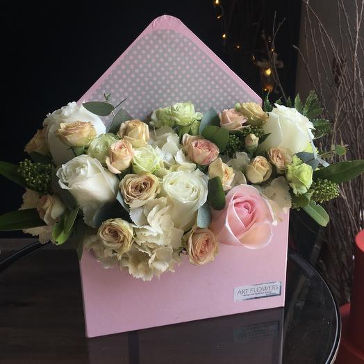 Конверт цветов: букеты цветов на заказ Flowwow