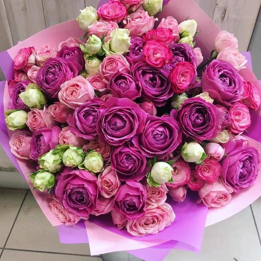Малиновое облако: букеты цветов на заказ Flowwow