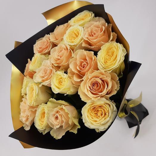 Золотая филигрань: букеты цветов на заказ Flowwow
