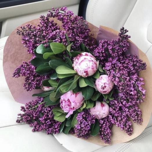 Сиреневая любовь: букеты цветов на заказ Flowwow