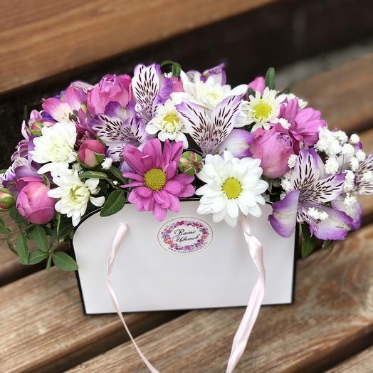 Сумочка «Розовая мечта»: букеты цветов на заказ Flowwow