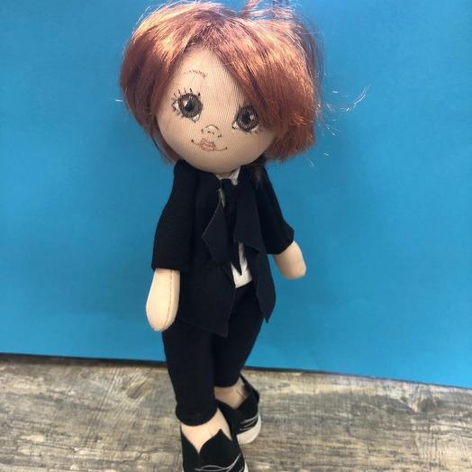 Кукла-школьник ручной работы: букеты цветов на заказ Flowwow
