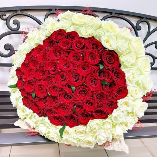 "Букет ""Совершенство"" 101 роза 50 см"