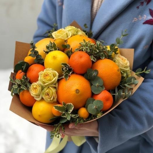 """Букет из фруктов """"Витаминный"""": букеты цветов на заказ Flowwow"""