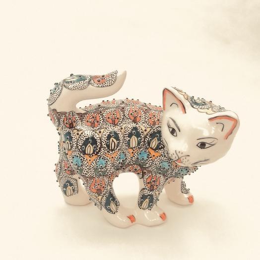 Кошка из керамики: букеты цветов на заказ Flowwow