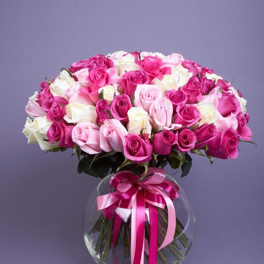 101 микс Фреш эквадор: букеты цветов на заказ Flowwow