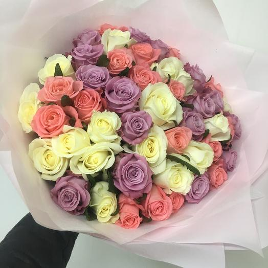 Волшебный микс роз: букеты цветов на заказ Flowwow
