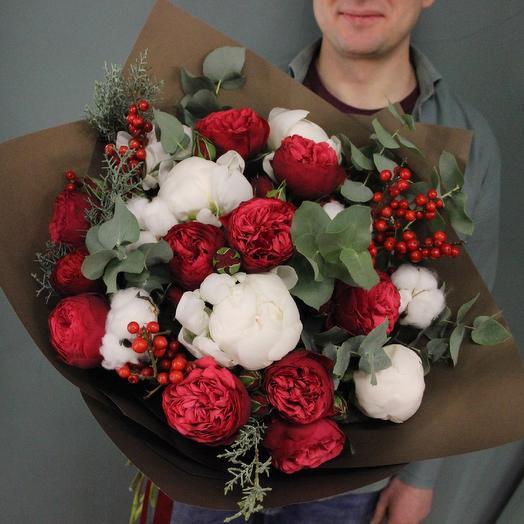 Алая зима: букеты цветов на заказ Flowwow