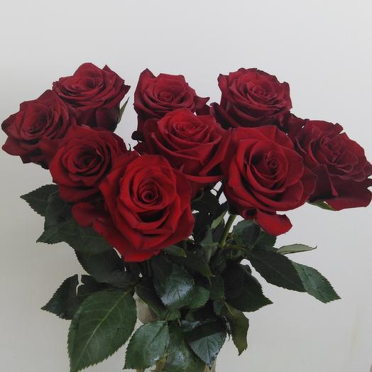 Охапка эквадорских красных роз
