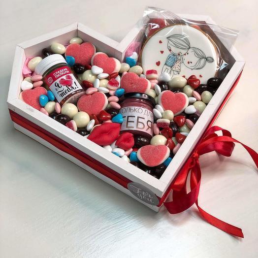 Мармеладное сердце: букеты цветов на заказ Flowwow