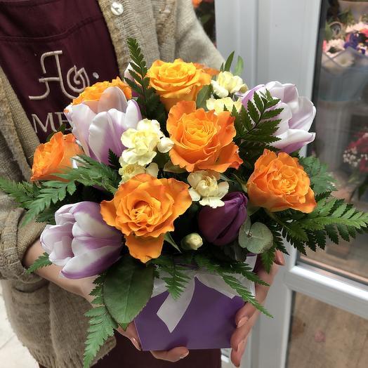 Коробочка комплимент: букеты цветов на заказ Flowwow