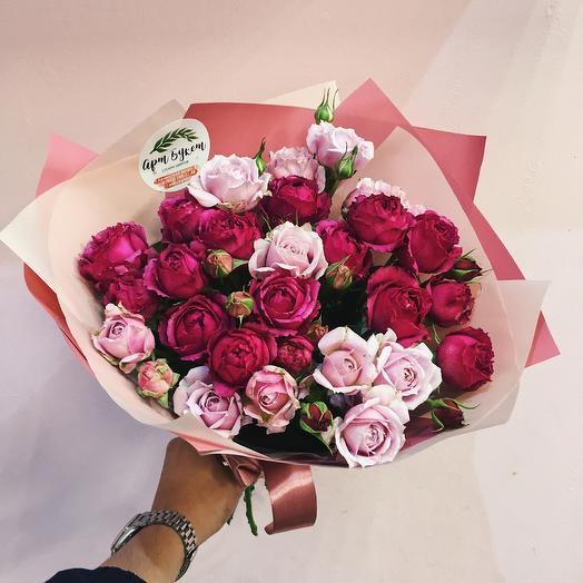 9 bush peony roses