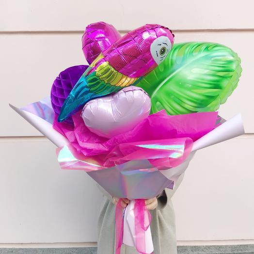 Букет из воздушных шаров «Тропики»: букеты цветов на заказ Flowwow